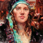 """Gypsy Spirit""  Portrait Painting from Life with Jeffrey Watts"